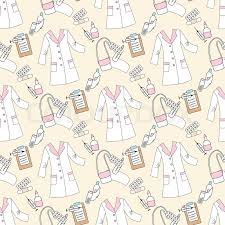 seamless pattern with medical things hand drawn medicine sketches
