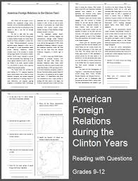 american foreign relations in the clinton years reading with