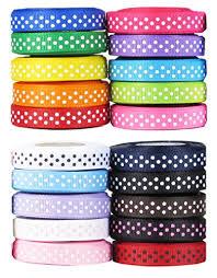 polka dot grosgrain ribbon 10yards 3 8 9mm mixed 10 colors dots random collocation lovely polka