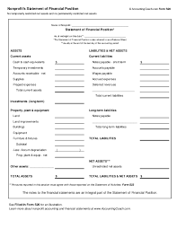 best photos of non profit financial statement template non