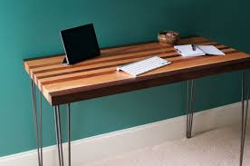 tables modern desk featuring a maple mahogany and walnut wood