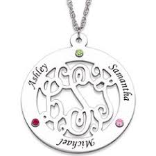 mothers necklaces with names and birthstones mothers pendant necklace with child names engraved jewlery