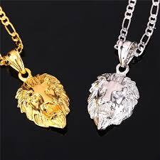big chain necklace silver images Lion men necklace onyx bunny jpg