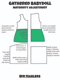 3 ways to maternity adjustments to any t shirt pattern