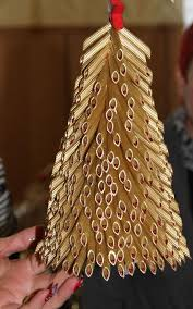 diy tabletop tree gold pasta idea diy