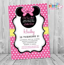 minnie mouse invitation printable pink and yellow minnie