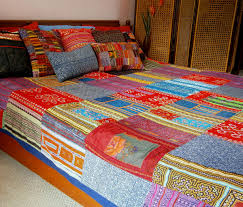 Patchwork Duvet Covers Queen Duvet Cover Vintage Hmong Indigo Batik And Embroidery