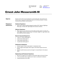 Actor Sample Resume by Download Audio Recording Engineer Sample Resume