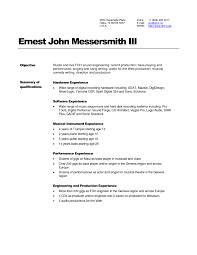 Resume Engineering Sample by Download Audio Recording Engineer Sample Resume
