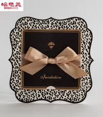 aliexpress com buy leopard print wedding invitations card 2015