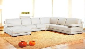 White Italian Leather Sectional Sofa Vig Divani Casa 2227 Modern Leather Sectional Sofa