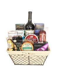 wine and cheese basket deluxe wine and cheese gift basket chagne gift baskets