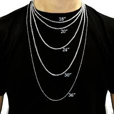men necklace lengths images Gold mens gold chain lengths jpg