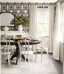 black table white chairs boxwood clippings blog archive draper house thrift cafe chairs
