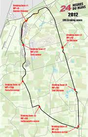 map of le mans fia sets designated hybrid transmission zones for le mans 24 hour race