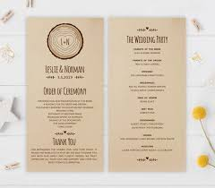 wedding programs rustic rustic wedding programs sunflower wedding
