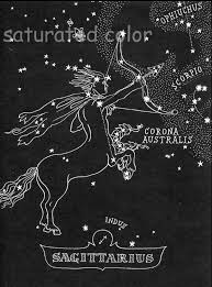 Sky Maps Sagittarius Star Chart Map Zodiac Constellation Stars From
