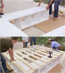 stolmen bed hack ikea platform bed hack how to build a queen bed with twin trundle