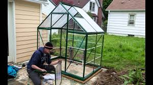Palram Polycarbonate Greenhouse Assembling A Palram Hybrid 6x4 Greenhouse Kit Youtube