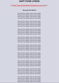 try to memorize the lyrics to daft s around the world