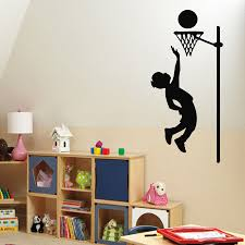 compare prices on sports wall decor online shopping buy low price wall decals boy basketball player sport vinyl sticker murals wall decor china mainland