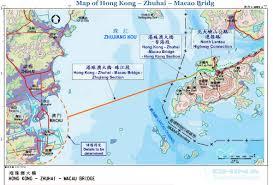 Macau China Map by Map Of Hong Kong Zhuhai Macao Bridge