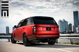 red range rover red matte range rover on black wheels by exclusive motoring