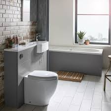 R2 Bathroom Furniture 1200mm Slim Isocast Basin Left R2 Bathrooms