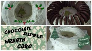 christmas chocolate ripple wreath cake only 4 ingredients