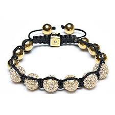 gold beads bracelet images Bling jewelry shamballa inspired gold plated faceted jpg