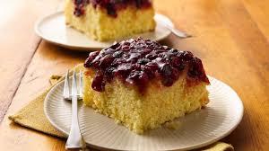 cranberry orange upside down cake recipe pillsbury com