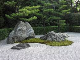 decorative garden fountains japanese rock stone garden zen rock