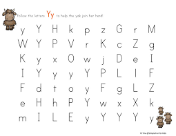 letter y maze simple fun for kids