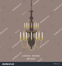 vector illustration antique chandelier template business stock