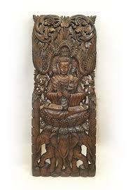 large carved wood panel buddha wall buddha wood wall decor