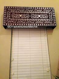 indian inlay stenciled window cornice techie u0027s diy adventures