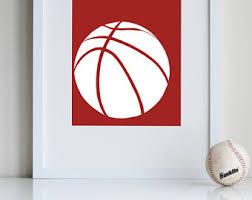 Basketball Room Decor Boys Sports Decor Etsy
