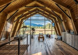Amazing Home Interior Amazing Home Gym Overlooking The Snake River In This Converted