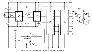 multi mode running light u2013 electronics project