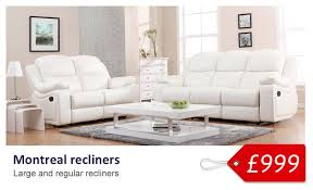 2 Seat Leather Reclining Sofa Elegant White Leather Recliner Sofa Set Contour Blossom White