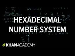 html input pattern hexadecimal hexadecimal number system video khan academy