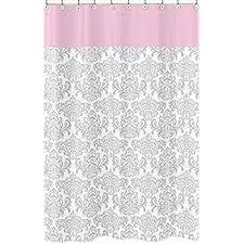 amazon com pink gray and white elizabeth kids bathroom fabric