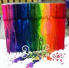 Hair Dryer Glue crayon canvas glue gun hair dryer craft ideas
