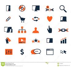 icon design software free download business icon set software and web development marketing stock