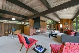 living room wall modern home mid century modern home clad with wood of various shades digsdigs