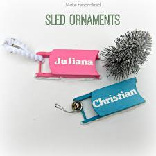 make your own personalized sled ornaments morena s corner