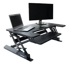 Computer Desk With Adjustable Keyboard Tray Height Adjustable Elevating Standing Desk Converter 36 Wide