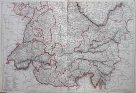 Map Of Germany And Switzerland by Map Of Southern Germany And Switzerland 1853