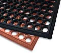 work step commercial kitchen drainage mat with beveled edges