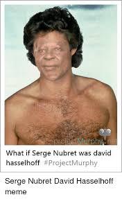 David Hasselhoff Meme - what if serge nubret was david hasselhoff project murphy serge